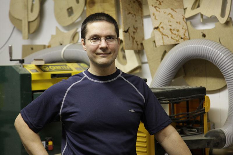 Mike Potvin, owner Potvin Guitars